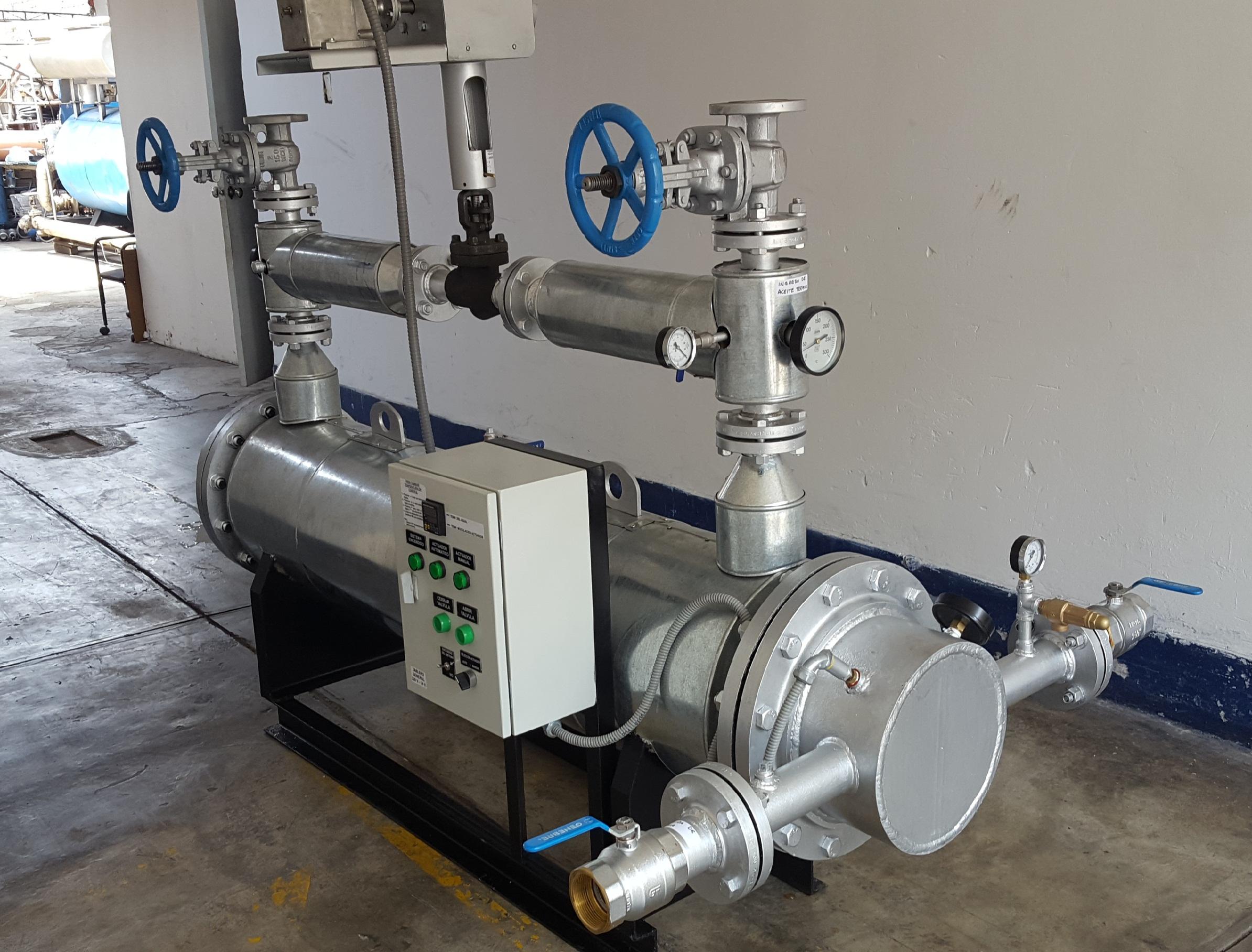 Intercambiador de Calor de Aceite Térmico - Agua