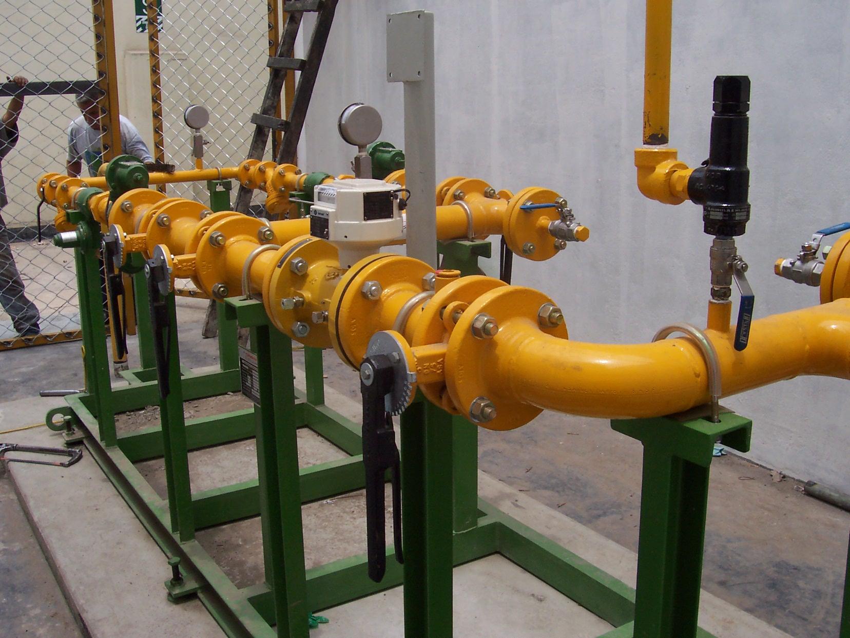 Estación Reductora y Medidora de Gas Natural