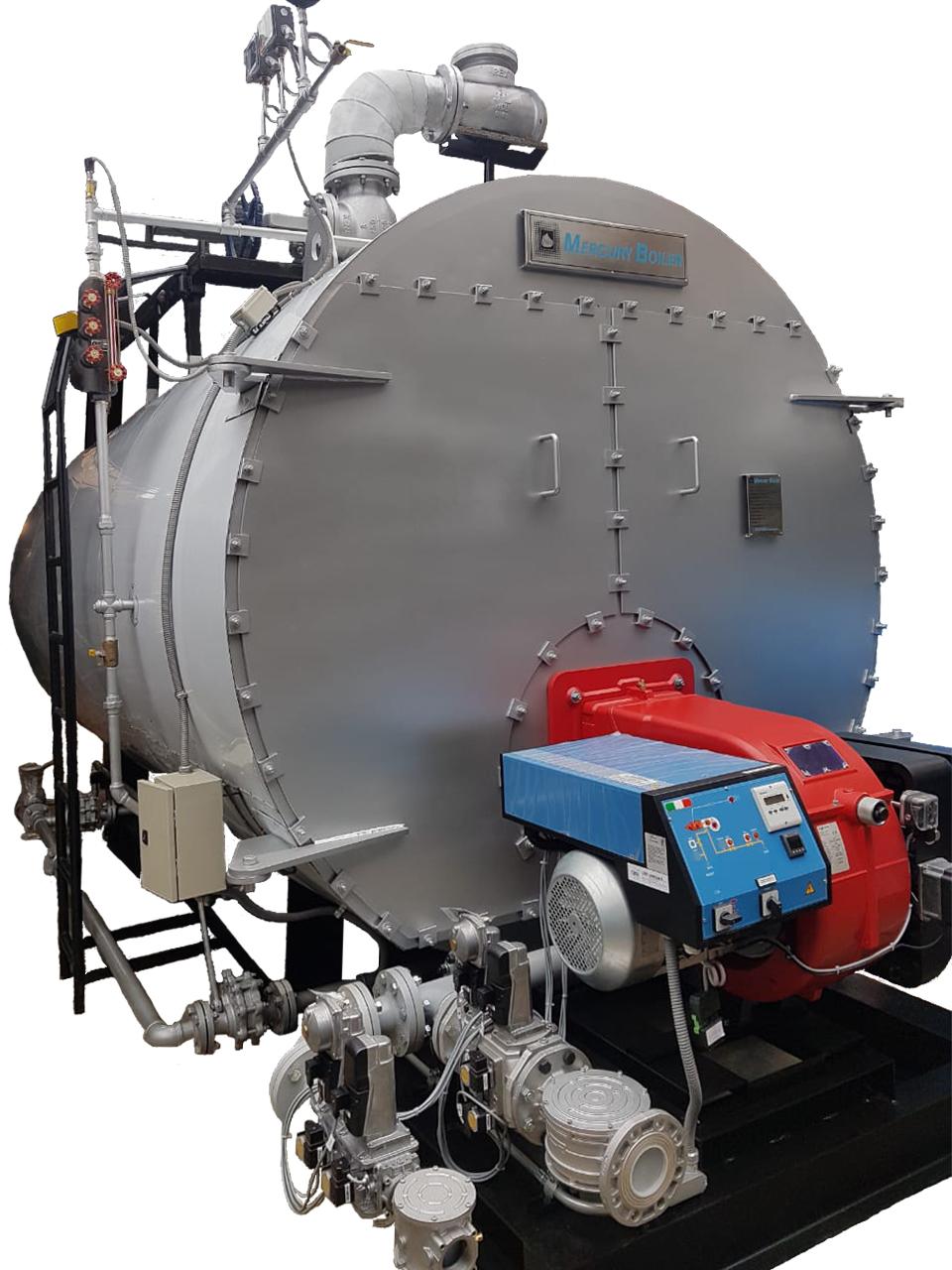 Caldera de Vapor Horizontal 400HP Mercury Boiler