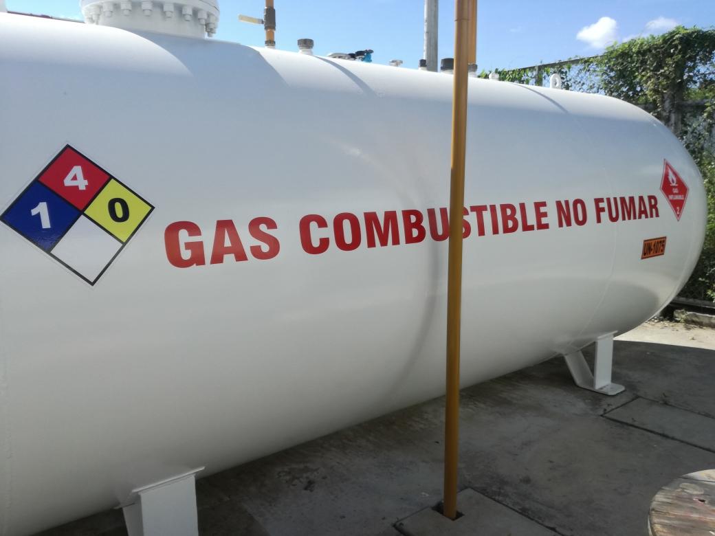 Tanque de Almacenamiento de Gas